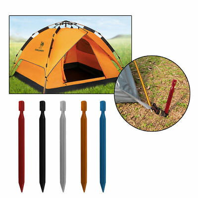 10Pcs 18cm Aluminum Alloy Outdoor Camping Trip Tent Peg Ground Nail Stakes+Ropes