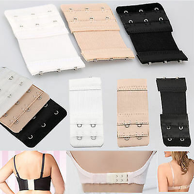 3 Colours Bra Extender 2/3 Hooks Ladies Bra Extension Strap Underwear Strapless