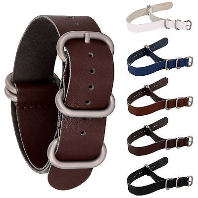 Mens Genuine Leather Watch Strap Band Militar ARMY INFANTRY NATO G10 Design