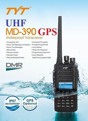 TYT MD-390 UHF ✔GPS✔ Digital DMR IP67 Dual Band Ricetrasmittente Radio   MD380