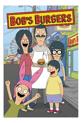Bobs Burgers Family TV Show Poster New - Maxi Size 36 x 24 Inch