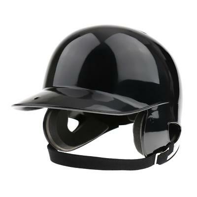 Double Flap Batting Helmet Black Baseball/Softball Helmet Head Protector