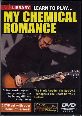 Learn to Play My Chemical Romance Lick Library Guitar DVD Set NEW SEALED