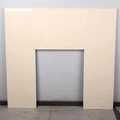 Solid Natural Marble Mantel Back Panel - Cream Stone - 940 x 940mm