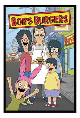 Framed Bobs Burgers Family TV Show Poster New