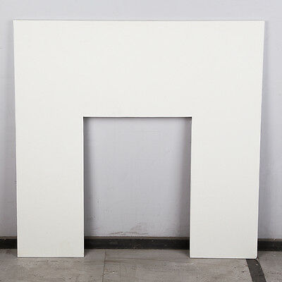 Solid Natural Marble Mantel Back Panel -Sparkly White - 940 x 940mm