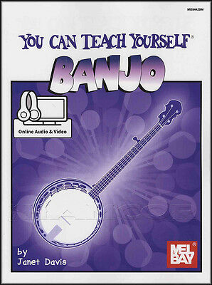 You Can Teach Yourself Banjo TAB Music Book with Online Audio & Video Learn