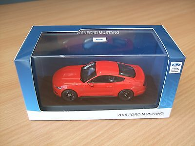 OFFICIAL 2015 FORD MUSTANG DIECAST MODEL by NOREV 1.43 SCALE RED 35021212