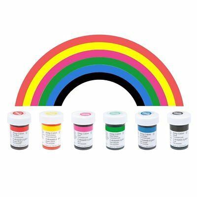 Wilton Icing Paste Gel for Cake Cupcake Baking Decoration – 6 Primary colours