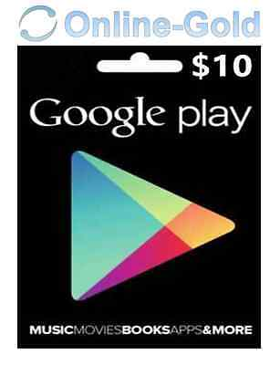 $10 US Dollars Google Play Gift Carte - $10 USD USA for Android Store Clé US