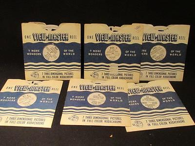 USA 1940s Viewmaster 6 Reels Garden of Gods, Little White House, Grand Canyon +