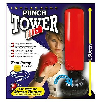 160cm Inflatable Water Base Punch Tower Boxing Free Standing Box Fun Workout