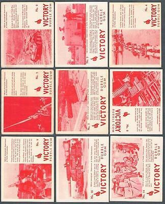 1940 V406 Victory Series Bubble Gum Trading Cards Lot of 45