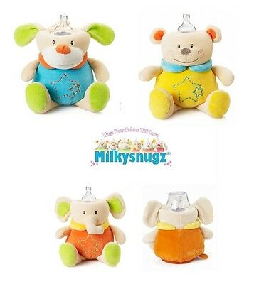 MilkySnugz Original Baby Bottle Cover Comforter Infant Feeding Soothing Soft Toy