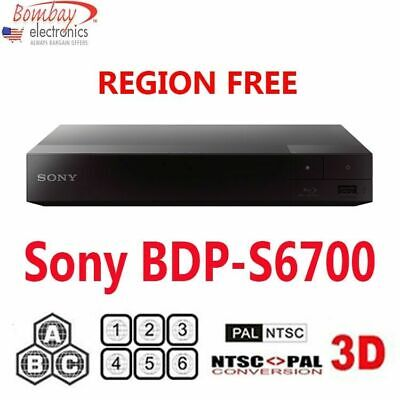 Sony BDP-S6700 Region Free Blu-Ray & DVD Player - 3D Player