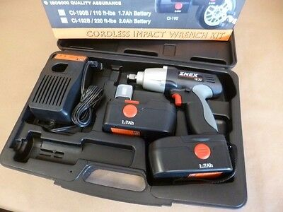 "1/2"" Drive 19.2V Cordless Impact Wrench W/ 2 Batteries Charger Znex Ci-190B(Abv)"