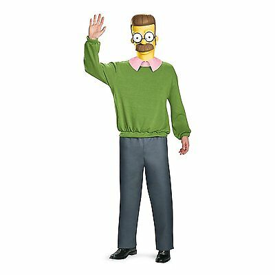 The Simpsons Ned Flanders Deluxe Adult Costume