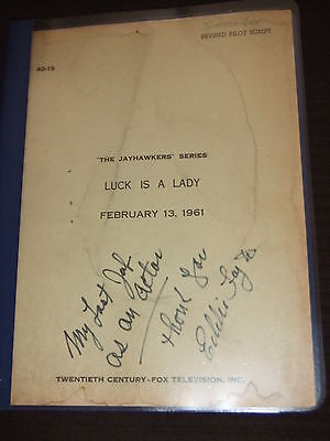 RARE 1961 UNSOLD TV Pilot Script The Jayhawkers 20th Century Fox SIGNED FOY III