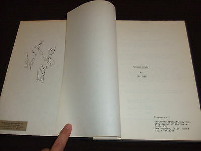 SIGNED 1974 The Bat People PILOT Horror Movie Script Cast McAndrew HC Bound FOY