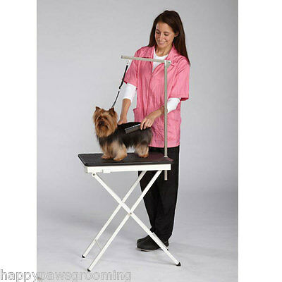 DOG PET PORTABLE FOLDING Show Home Mobile GROOMING TABLE SET-Adjustable Arm&Loop