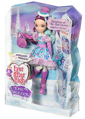 Mattel - Ever After High - Ewiger Winter Maddie, Daughter Puppe, Neu, DPG87