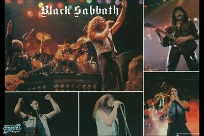 BLACK SABBATH POSTER Live on Stage Collage RARE HOT NEW - PRINT IMAGE PHOTO