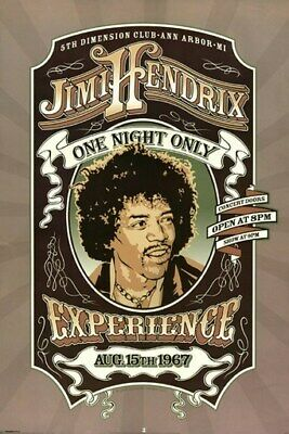 JIMI HENDRIX POSTER One Night Only RARE HOT NEW 24X36 - PRINT IMAGE PHOTO