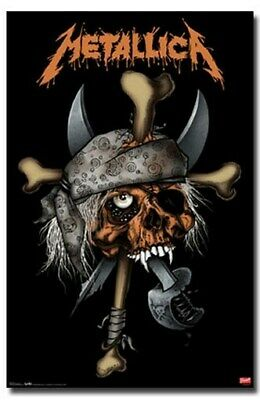 METALLICA POSTER Skull Pirate RARE NEW HOT 24X36