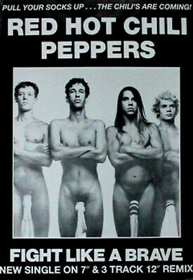 RED HOT CHILI PEPPERS POSTER Fight Like a Brave 24X36
