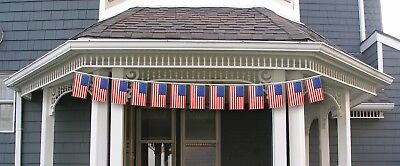 15' 15ft Patriotic American Flags Bunting Banner Pennant String 4th of July