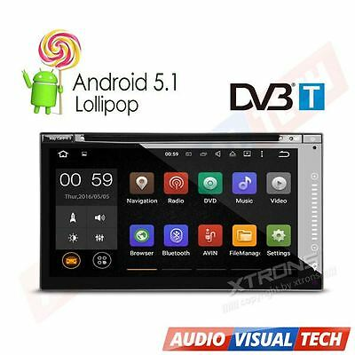 XTRONS 2 DIN Android 5.1 Car DVD Stereo GPS DAB+ Radio DVB-T Freeview Digital TV