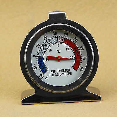 Useful Temperature Refrigerator Freezer Dial Type Thermometer Stainless Steel