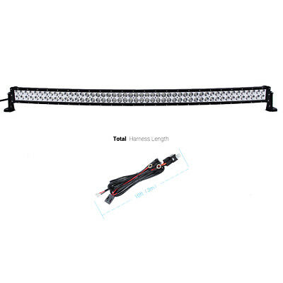 "52"" 500W CURVED LED WORK LIGHT BAR Spot Flood 4WD Boat Driving Truck Offroad US"