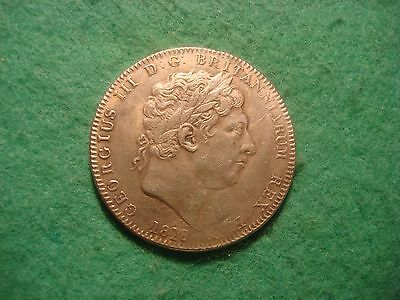 1818 King george III crown  RESTRIKE  PLEASE READ DESCRIPTION!!!