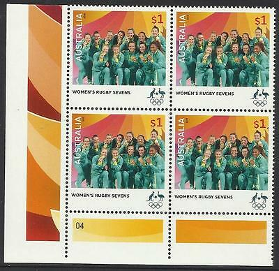 AUSTRALIA 2016 WOMENS RUGBY SEVENS RIO OLYMPIC GAMES GOLD MEDAL Block of 4 MNH