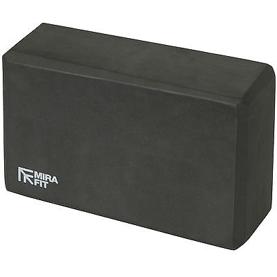 MIRAFIT Black Foam Exercise Yoga Block Fitness/Stretching Aid Brick Gym/Pilates