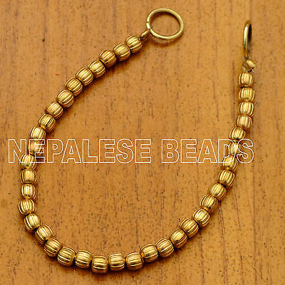 "BS936 Tibetan Nepalese Brass Melon Shape Strand 7"" Jewelry Making Eksha"