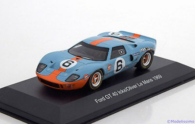 1:43 White Box Ford GT40 MK1 Winner 24h Le Mans Ickx/Oliver 1969 Gulf