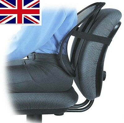 Air Lumbar Support Lower Back Cushion Pain Relief Correct Posture Office Chair