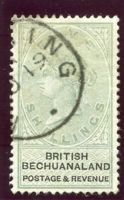Bechuanaland 1887 QV 5s green & black very fine used. SG 18. Sc 19.