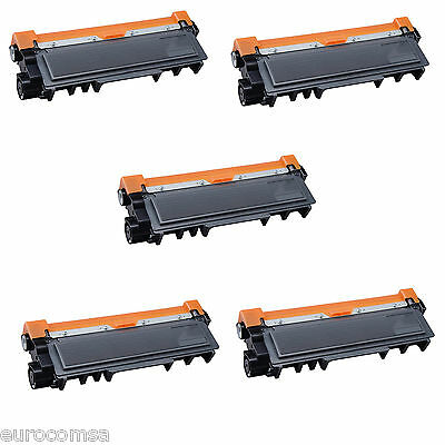 5 TONER COMPATIBILI REMAN BROTHER TN2320 BK NERO PER Brother MFC-L2700DN