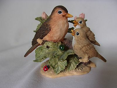 Bird Figures Robins and Babies Figure