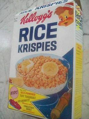 1967 Kellogg's Rice Krispies Toy Tugboat Empty Cereal Box
