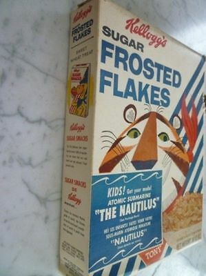 1958's Kellogg's Frosted Flakes Atomic Submarine Cereal Box
