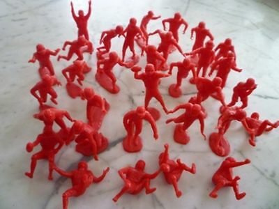1960's Very Rare Marx Football Red Complete Set Of 29