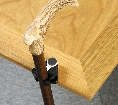 Walking Stick Cane or Crutch Holder - Clip On Table Rest