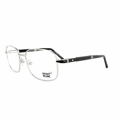 Mont Blanc Glasses Frames 0529 016 Shiny Palladium Black