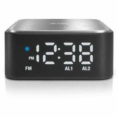 Philips SB170/37 Bluetooth Digital Alarm Clock FM Radio Speaker for Smart Phone