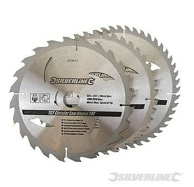 3 Disque Lame Scie Circulaire 24 40 48 Dents Carbure Tungstene 235 X 30 Bois