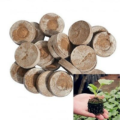 40pcs/lot 30mm Nursery Block Jiffy Peat Pellets Seed Starter Seedling Soil Block